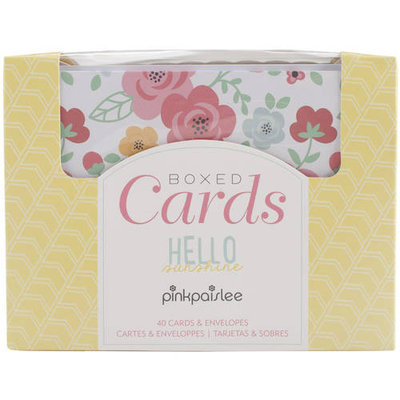 American Crafts Pink Paislee A2 Cards & Envelopes (4.25