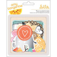 American Crafts Amy Tan Rise & Shine Cardstock DieCuts 28/PkgShapes & Phrases W/Foil Accents