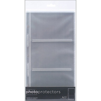 American Crafts 6x12 Side Loading Page Protectors for 4x6 Photos - 10 Count