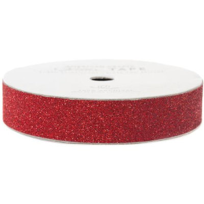 American Crafts Glitter Paper Tape 3yd-Rouge .625