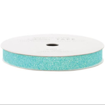 American Crafts AC-GT-96021 Glitter Paper Tape 3 Yards-Spool-Aqua .375 in.