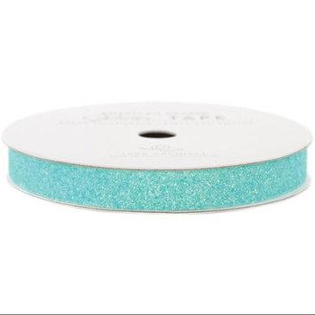 American Crafts AC-GT-96021 Glitter Paper Tape 3 Yards-Spool-Aqua .375 in.