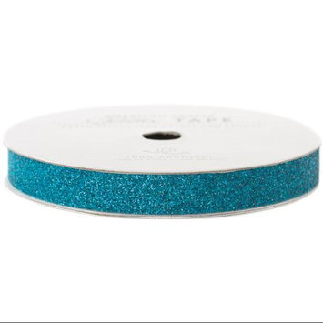 American Crafts AC-GT-96024 Glitter Paper Tape 3 Yards-Spool-Peacock .375 in.