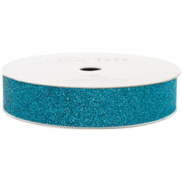 American Crafts AC-GT-96030 Glitter Paper Tape 3 Yards-Spool-Peacock .625 in.