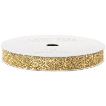 American Crafts AC-GT-96038 Glitter Paper Tape 3 Yards-Spool-Brown Sugar .375 in.