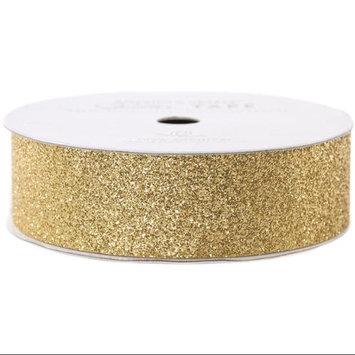 American Crafts AC-GT-96050 Glitter Paper Tape 3 Yards-Spool-Brown Sugar .875 in.