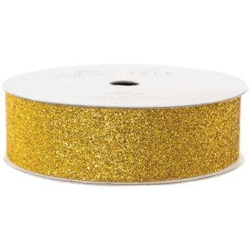 American Crafts AC-GT-96051 Glitter Paper Tape 3 Yards-Spool-Gold .875 in.