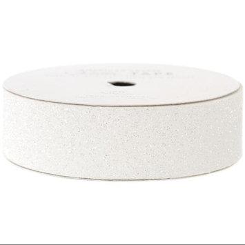 American Crafts AC-GT-96053 Glitter Paper Tape 3 Yards-Spool-White .875 in.