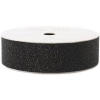 American Crafts AC-GT-96054 Glitter Paper Tape 3 Yards-Spool-Black .875 in.
