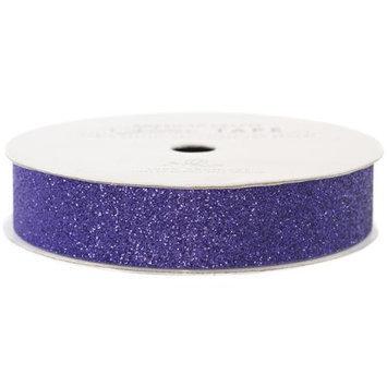 American Crafts AC-GT-96066 Glitter Paper Tape 3 Yards-Spool-Plum .625 in.