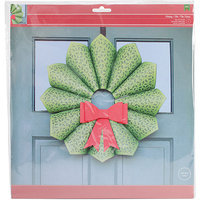 American Crafts 98358 Christmas Cardstock Wreath Kit-W/Die-Cut Bow