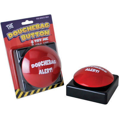 Big Mouth Toys Douchebag Alert Big Red Button D-Bag Different Voices Accents Sound Effects