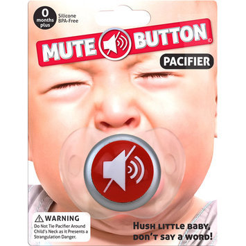 Big Mouth Toys Mute Button Pacifier