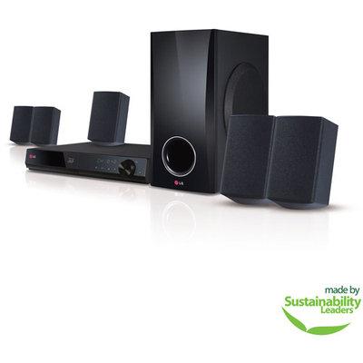 LG BH5140S 5.1 3D Home Theater System - 500 W RMS - Blu-ray Disc Player - DTS - BD-RE, DVD+RW, DVD-RW, CD-RW - BD Video, DVD Video, AVI, MPEG, MKV, MP4, ASF, WMV, M4V, VOB, 3GP, . - Ethernet - HDMI - USB - DLNA Certified