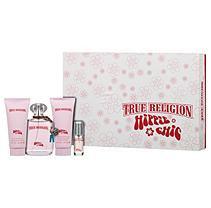 Hippie Chic By True Religion Brand Jeans For Women - 4 Pc Gift Set 3.4oz Edp Spray, 0.25oz Edp Spray, 3oz Bath & Shower