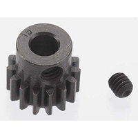Robinson Racing Products Extra Hard 15 Tooth Blackened Steel 32p Pinion 5mm
