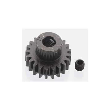 Robinson Racing Products ROBINSON RACING 8621 Extra Hard 21T Blackened Steel 32P Pinion 5mm Multi-Colored