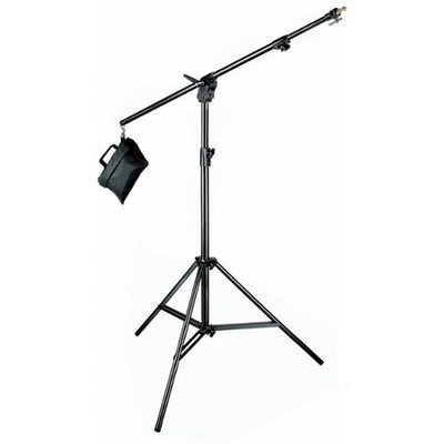 Manfrotto US - Black Combi-Boom Stand, 3-Section Stand with sand bag