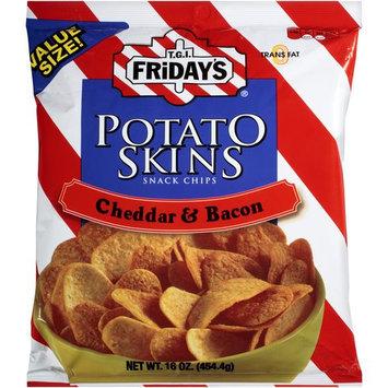 T.G.I. Friday's Cheddar & Bacon Potato Skins Snack Chips, 16 oz
