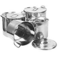 Universal Housewares Star Dist 2006 Stainless Steel Stock Pot Set - Piece of 4