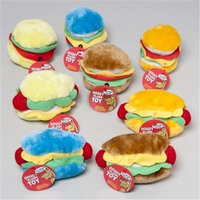 Ddi Hot Dog/Hamburger Plush Dog Toy Case Of 36