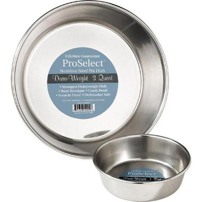 Pet Pals ZW149 96 ProSelect Stainless Steel Dura-Weight Dish 3 Qt