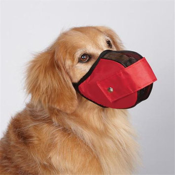 Petedge ZX2015 14 83 GG Fabric Mesh Muzzle Small 7 In Red