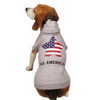 Zack and Zoey UM4595 24 11 Americas Pup Star Hoodie XLSlv