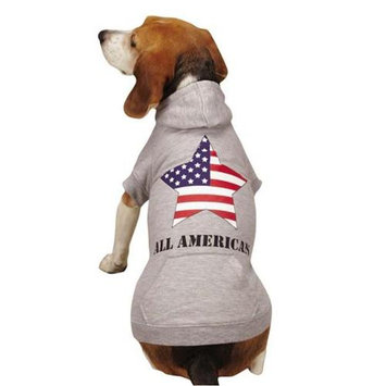 Zack and Zoey UM4595 24 11 Americas Pup Star Hoodie XLSlv