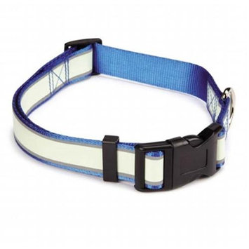 Pet Edge Dealer Services Casual Canine Glow Nylon Dog Collar 6-10 BLU