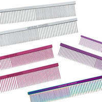 Master Grooming Tools TP6018 12 Purple Greyhound Comb Fine-Coarse