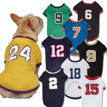 Petedge Dealer Services Casual Canine Play Ball Dog Jersey XS White