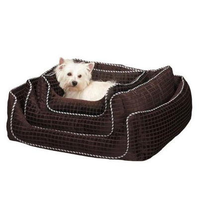 Slumber Pet ZW7329 41 25 Quilted Square Nesting Bed L Brn