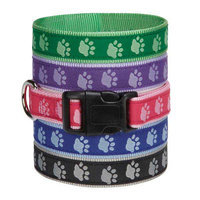 Guardian Gear Pawprint Dog Collar 6 to 10in Prple