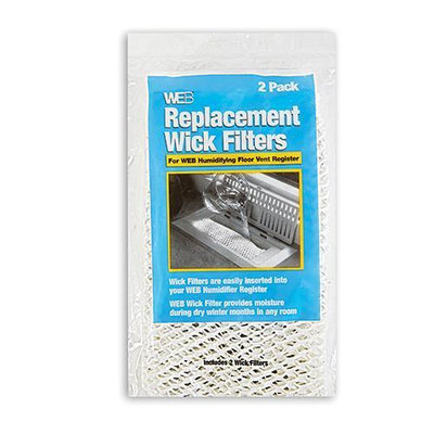 Web Products Inc. Web WWIck Humidifier Floor Vent Register 2-Pack Replacement Filters