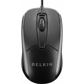 Belkin Mouse Optical Cable USB 800dpi Scroll Wheel 3BTN F5M010QBLK