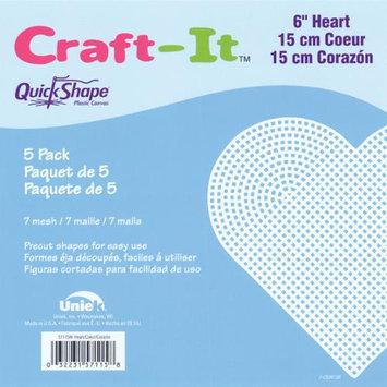 Cottage Mills 57115 QuickShape Heart Shape Plastic Canvas, 6-Inch, Clear, 5-Pack 232919