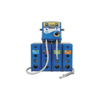 Silicondust ZPE1045914 - Zep Professional Advantage+ 4/1 Wall Mount Dispensing System; Blue;Plastic/Metal;19.5x6.75x29