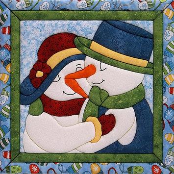 Snow Couple Quilt Magic Kit-12 X12