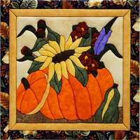 Flowers In A Pumpkin Quilt Magic Kit-12