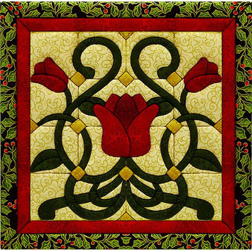 Christmas Tulip Quilt Magic Kit-12X12