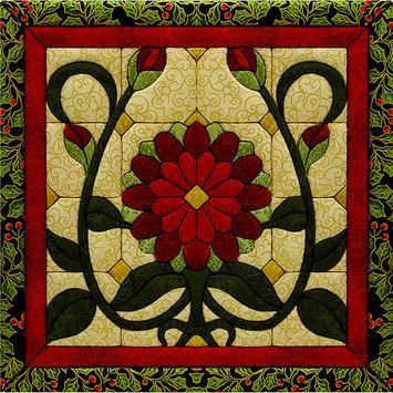 Christmas Flower Quilt Magic Kit-12X12