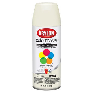 Krylon 1504/51504 Indoor/Outdoor Paint, Ivory (6 Pack)