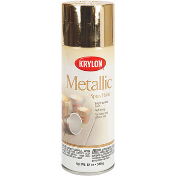 Krylon Spray Paints, Metallic Gold, 12 oz