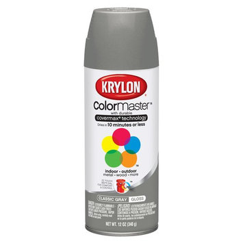 Krylon Spray Paints, Classic Gray, 12 oz
