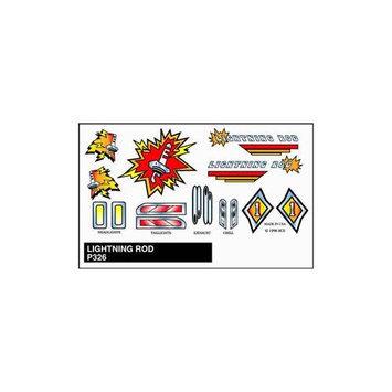 Pinecar Lightning Rod Pine Wood Derby Sticker