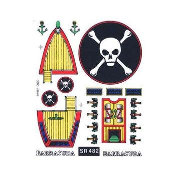SR482 Barracuda Decal Sailboat PINY2482 PINECAR