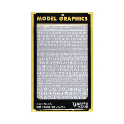 Design Preservation Models Roman Numbers, White - Woodland Scenics - MG708