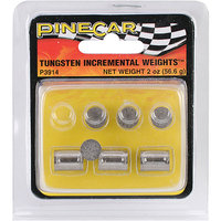 Pinecar Tungsten Incremental Cylinder Weights 2 OZ