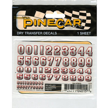 Woodland Scenics P4015 PineCar Beveled Numbers Decal